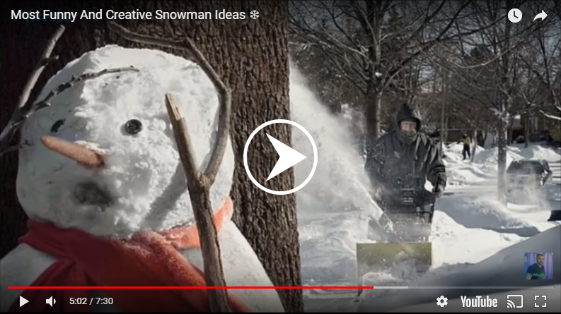 Funny And Creative Snowman Ideas